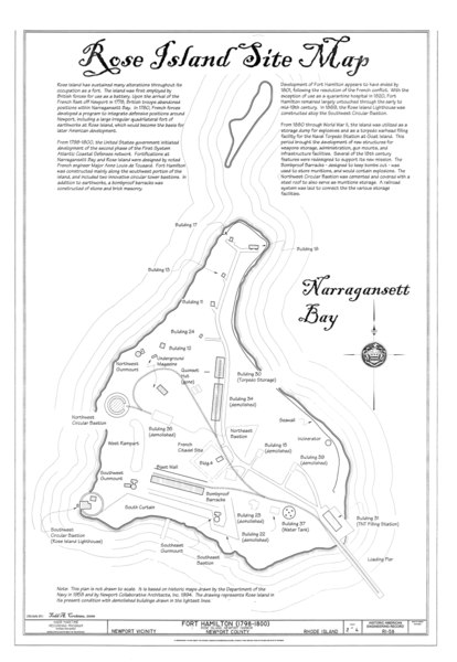 File:Fort Hamilton, Rose Island, Newport, Newport County