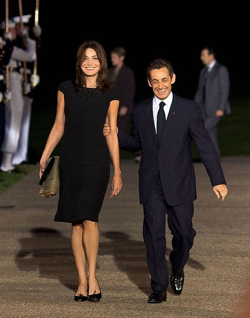 Nicolas Sarkozy and Carla Bruni at Pittsburgh G20 Summit