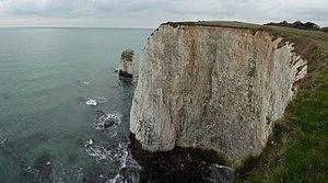 English: Purbeck : The Pinnacles & Chalk Cliff...