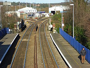 The northern end of Reading West railway stati...