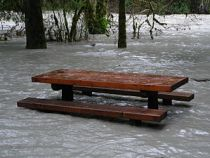 Stillaguamish River (south fork), picnic table...