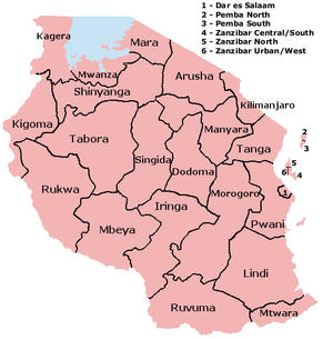 Regions of Tanzania
