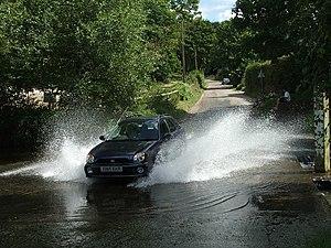 English: Car going through Barwick Ford. Car m...