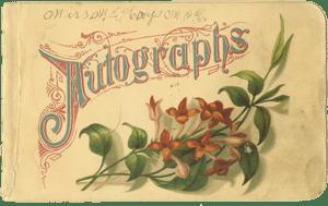 autograph book (1886)