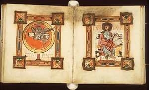 Fol. 104v and 105r of the Egmond Gospels. The ...