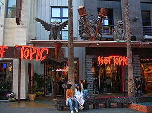 The Hot Topic at Universal CityWalk Hollywood.