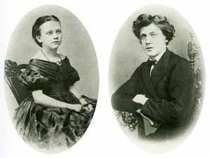 English: Portraits of Laura and Carl Aller, Da...