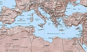 Political Map of the Mediterranean Basin