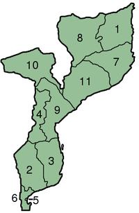Bản đồ tỉnh Mozambique