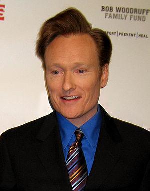 """American comedian Conan O'Brien at """"Stand..."""