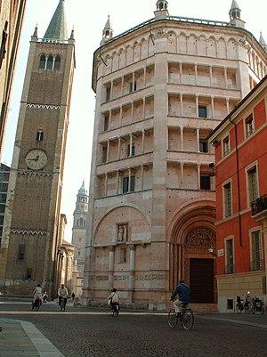 Battistero e Campanile, Parma, Italia