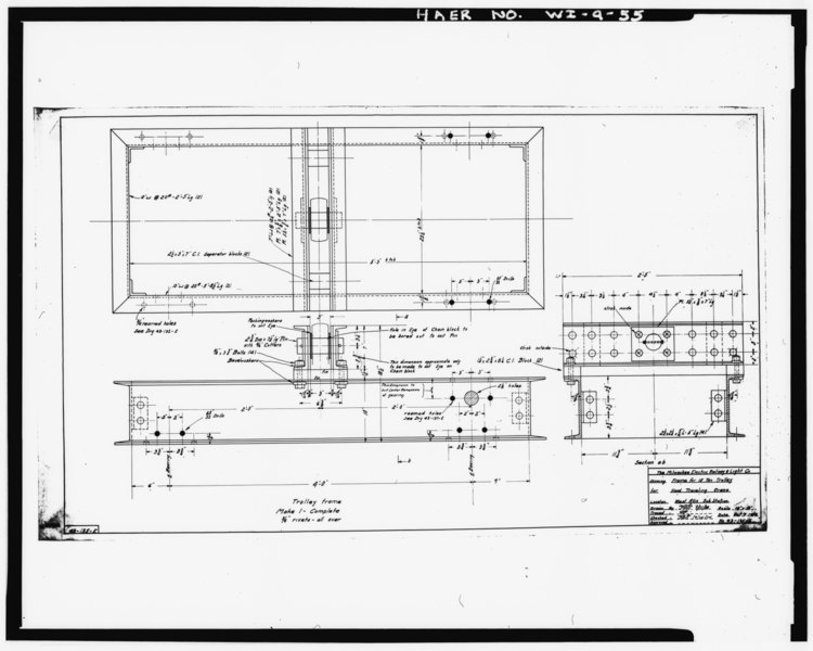 File:Photocopy of plans. Draftsman unknown, 1914 SECOND