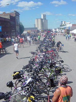 Pass-through town on RAGBRAI XXXIII