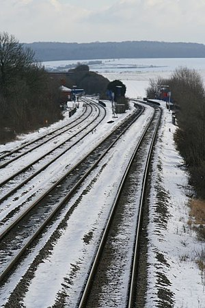 English: Trains gone Cholsey Station without t...