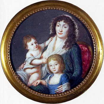 Ursula Mniszech with daughters