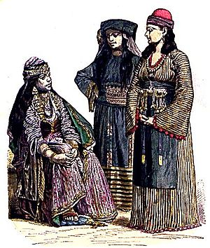 Woman from Damascus, Muslim woman from Mecca, ...