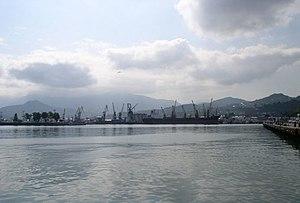 Deutsch: Hafen von Batumi, Georgien