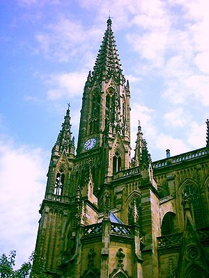 The Cathedral of Donostia-San Sebastian (Spain...