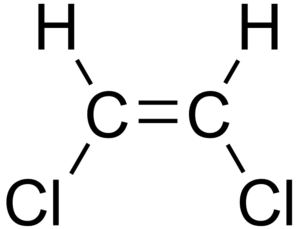 Chemical structure of an isomer of 1,2-dichlor...
