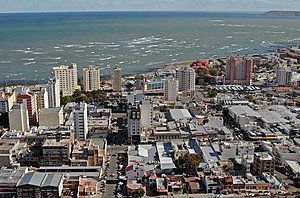 Aerial view of Comodoro Rivadavia