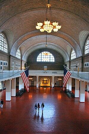 Ellis island Immigration Museum hall, 2009