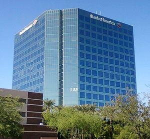 English: Financial Plaza, Bank of America, Mes...