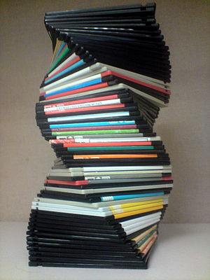 English: Spiral made of Floppy discs