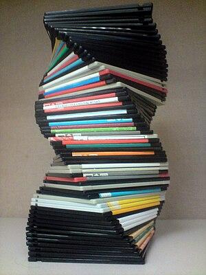 English: Spiral made of Floppy discs