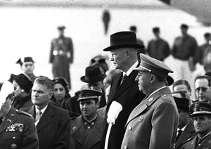 Francisco Franco junto ao presidente dos Estados Unidos, Eisenhower