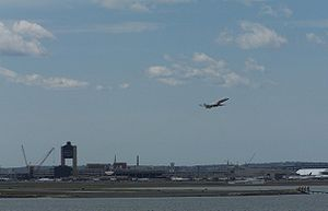 Logan International seen from Deer Island in W...