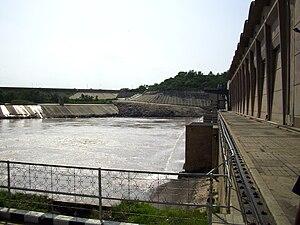 English: Powerhouse at Mangla Dam.