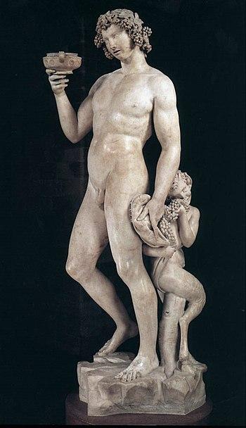 Michelangelo's Bacchus. Museo del Bargello, Fl...