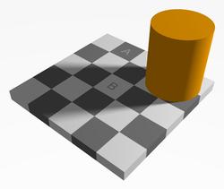 Increiblemente, el cuadrado A es exactamente del mismo color que el cuadrado B