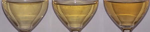 English: Three bottles of Pinot Gris taken Apr...