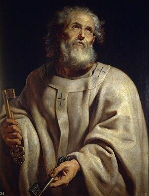 Painting of Saint Peter by Peter Paul Rubens d...