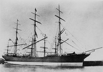 English: Sailing ship Orontes