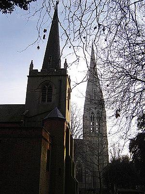 Stoke Newington's two parish churches. St Mary...