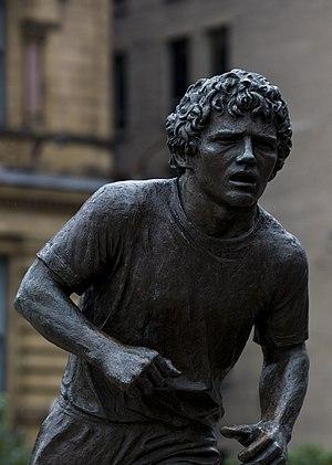 Terry Fox statue in Ottawa, Canada.