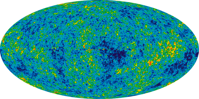 7 year WMAP image of background cosmic radiation (2010)