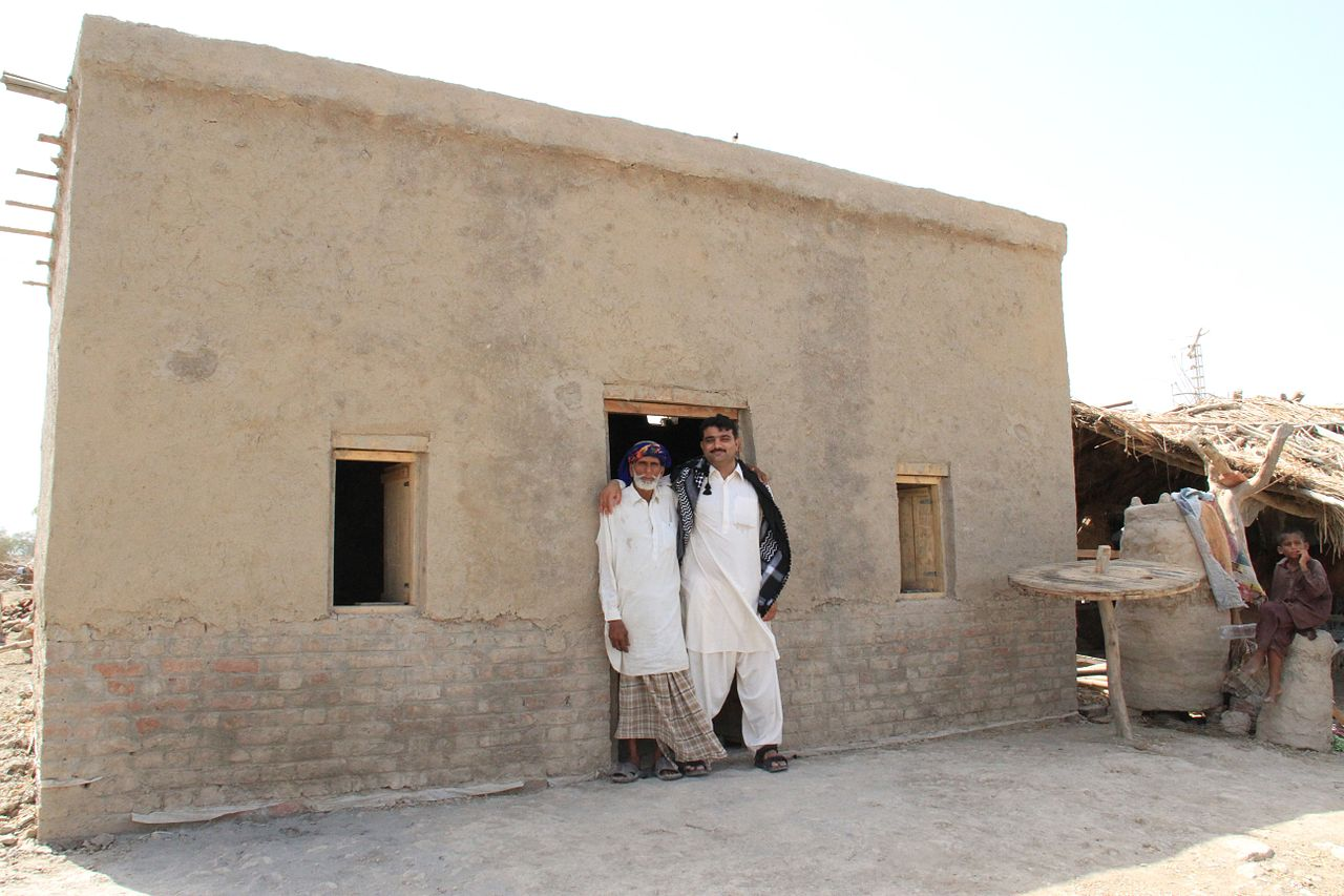 FileA newly built floodresistant house in Pakistans