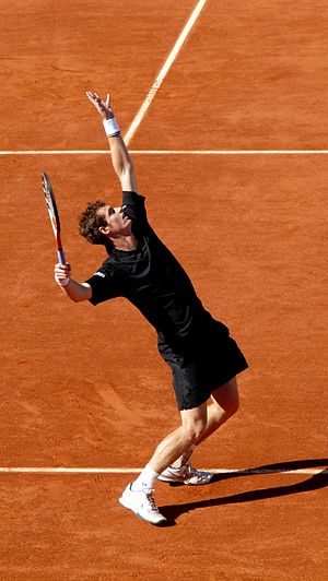 Andy Murray against Janko Tipsarević in the 20...