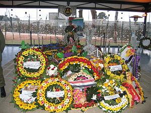 Yasser Arafat tomb in Ramallah, West Bank.