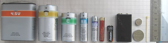 Different Size of Batteries