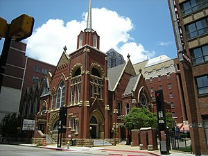 First Baptist Church, downtown Dallas, Texas.