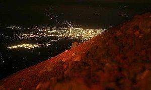 English: Ciudad de San Miguel, vista nocturna ...