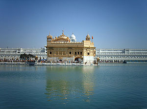 A photo of Harminder Sahib (The Golden Temple)...