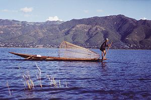 Fisherman on the Inle Lake, Burma - Myanmar.