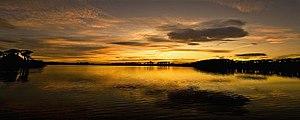 Knockaderry lake at sunset