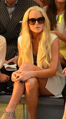 Lindsay Lohan at Cynthia Rowley