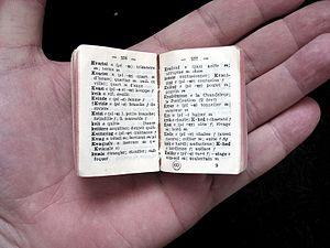 English: a miniature Danish-Norwegian-French d...